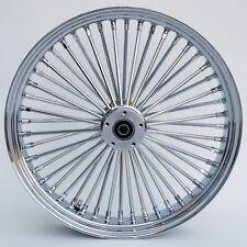 "Chrome Ultima 48 King Fat Spoke 21"" x 3.5"" Front Single Disc Wheel For Harley"
