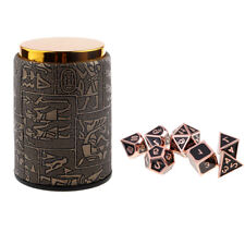 7 Set Metal Polyhedral Dice for Dungeons and Dragons DND MTG +Dice Cup #2