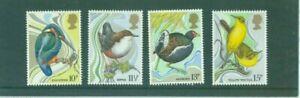 MINT 1980 GB BRITISH BIRDS WILD BIRD PROTECTION STAMP SET OF 4
