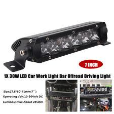 "1X 7""30W LED Work Light Bar Slim Spot Driving Fog Light Single Row Off Road Part"