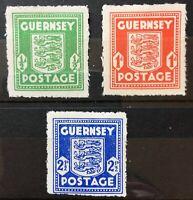 Guernsey. War Occupation Issues Stamp Set. SG1f/3a. 1941. MNH. #AK19