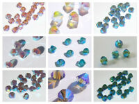 Swarovski bicone Austrian crystal beads faceted  Choose 3mm 4mm 6mm  ALL AB2X
