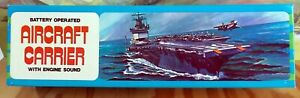AIRCRAFT CARRIER - BATTERY OPERATED TOY (QTY 1) - NEW OLD STOCK