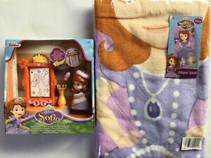 Sofia die Erste Geschenke Set Spielzeug & Duschtuch Badetuch Strandtuch