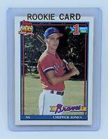 VINTAGE 1991 Chipper Jones BRAVES Topps Baseball Rookie Card #333 RC CLEAN