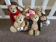 More details for bad taste bears plush with tags roger, russell, horny, ewan, willy bundle