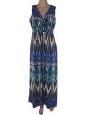 yessica abito vestito lungo donna blu stretch taglia l large
