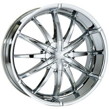 20x8.5 CHROME WHEELS 5-114.3/127 SUITS NISSAN TOYOTA MAZDA FORD JEEP WRANGLER