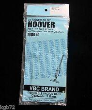 Hoover Type G Vacuum Bags Pixie Handivac Dustette Quik Broom Pack of 3 Vbc