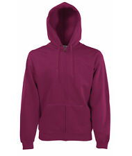 Fruit of The Loom Ss069m cappuccio Uomo Rosso (burgundy) Large