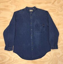 Vintage Guess Jeans Button Down Mandarin Collar Shirt Sz. S
