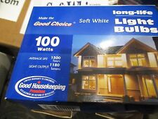 12 INCANDESCENT BULBS - 100W OLDER STOCK IN ORIGINAL BOXES
