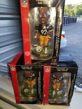 3 Pittsburgh Steelers grass base bobblehead Legends field Bell/Burress/Gildon