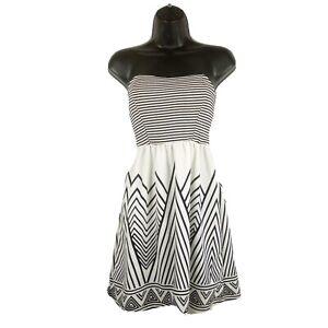 Derek Heart Strapless Dress Junior Women Size M Stretch Black