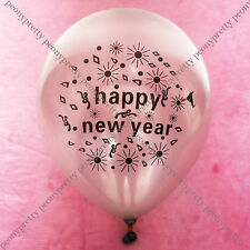 8x gold silver NEW YEAR latex balloon party celebration decoration