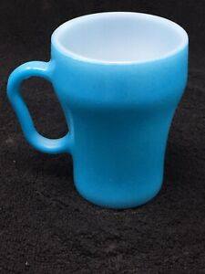 Blue Fire King Soda Fountain Mug