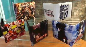 Anime Cartoon Naruto Attack on Titan Bifold faux Leather Wallet Card  Man Woman
