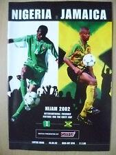 2002 programma Amichevole Internazionale-NIGERIA V Giamaica, 18 MAGGIO