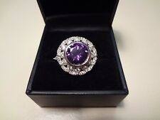 #425 FANCY STERLING SILVER RING-925-BEAUTIFUL STONES SIZE---8 1/2