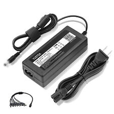 12V 5A 60W Power Supply Adapter + 8 Way Splitter Cable for LED Strip CCTV 12VDC