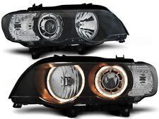 HEADLIGHTS RHD LHD LPBM87 BMW X5 E53 1999 2000 2001 2002 2003 ANGEL EYES XENON