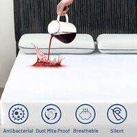 BED BUG, Waterproof Zippered Vinyl Mattress PROTECTOR-Hypoallergenic Design