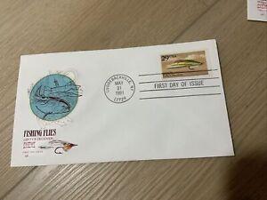 1991 Fishing Flies (2545-2549) 6 House Of Farnam FDCs