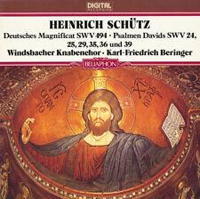 SCHUTZ German Magnificat 6 Psalms WINDSBACHER KNABENCHOR BERINGER Bellaphon LP
