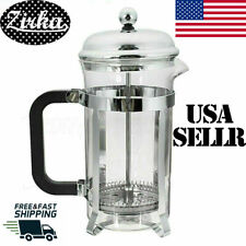 32OZ Stainless Steel Glass French Press Pot Filter Cafetiere Tea Coffee Maker