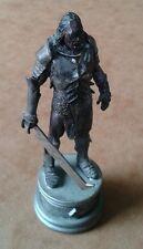 Señor de los Anillos Ajedrez Colección Serie 3 Uruk-hai general Black Knight jugando Pieza Rara