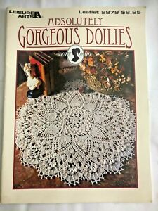 Absolutely Gorgeous Doilies Leisure Arts 2879 South Maid Crochet Pattern Books