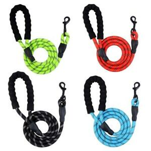 5FT Dog Lead Braided Rope Ideal For Medium And Large Dogs,Strong And Soft Handle
