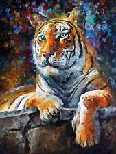 "SIBERIAN TIGER  —  Oil Painting On Canvas By Leonid Afremov. Size: 30""x24"""