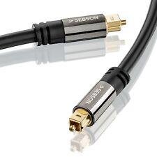 Toslink Kabel 1m für HiFi & Heimkino Anlagen, Optisches Audiokabel SPDIF SEBSON