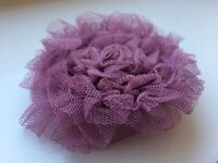 Decorative Fabric Flower Brooch - Pink