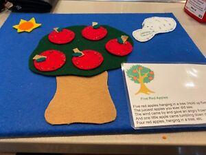 Five Red Apples  Felt Story Teacher Resource
