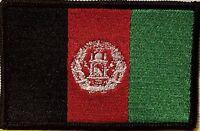 AFGHANISTAN  Flag Iron-On Patch Tactical Morale Emblem Black Border