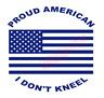 Proud American I Don't Kneel US Flag Vinyl Decal Window Sticker Car