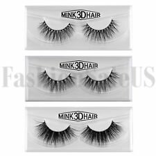 100% Real visón Natural 3D falso falso pestañas ojo pestañas maquillaje extensión 1 Par