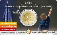 Coincard 2 euros commémorative BELGIQUE 2015 - Année Européenne du développement