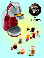Krups Nescafé Dolce Gusto KP120540 1500W  Mini Me Coffee Machine - Red & Grey