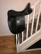 Spalding Britannica 17.5 Inch  Black Leather Dressage Saddle Medium Width