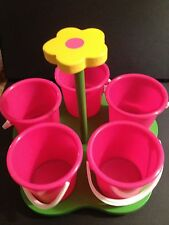 Crafty Floral Caddy, pink buckets with tray, Great Quality/Price, Ms Crafty NEW