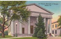 Vintage Postcard Chapel University Georgia Athens GA