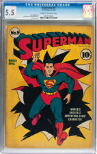 Superman #9 CGC 5.5 DC 1941 Great Cover! C3 1 915 cm
