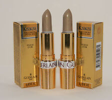 2 x Guerlain KISSKISS Pure Comfort Lipstick FEUILLE D'OR (Golden Leaf) - 4g