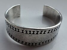 Small Viking Pewter Cuff Bracelet Bangle - Norse - Hand Made in Scotland