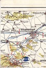 Halberstadt Derenburg Blankenburg 1928 Teilkarte /Ln. Schwanebeck Heimburg Huy