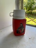 Vintage 1983 Mr T The A Team Childs Thermos Red 8 oz Travel Red Drinking Jug Cup
