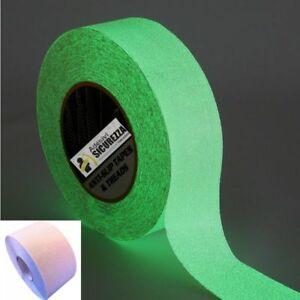 Strisce pellicole adesive antiscivolo 50mm x 5MT fluorescente luminescente top!!
